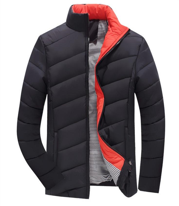 fashion เสื้อแจ็คเก็ตกันหนาว ซิปหน้า ผ้าฝ้าย สีดำ (รอสินค้า15-20วัน)