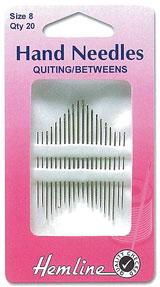 เข็มสำหรับเย็บหรือควิลท์ เบอร์ 8 / Hand Needle: Between/Quilting: 8