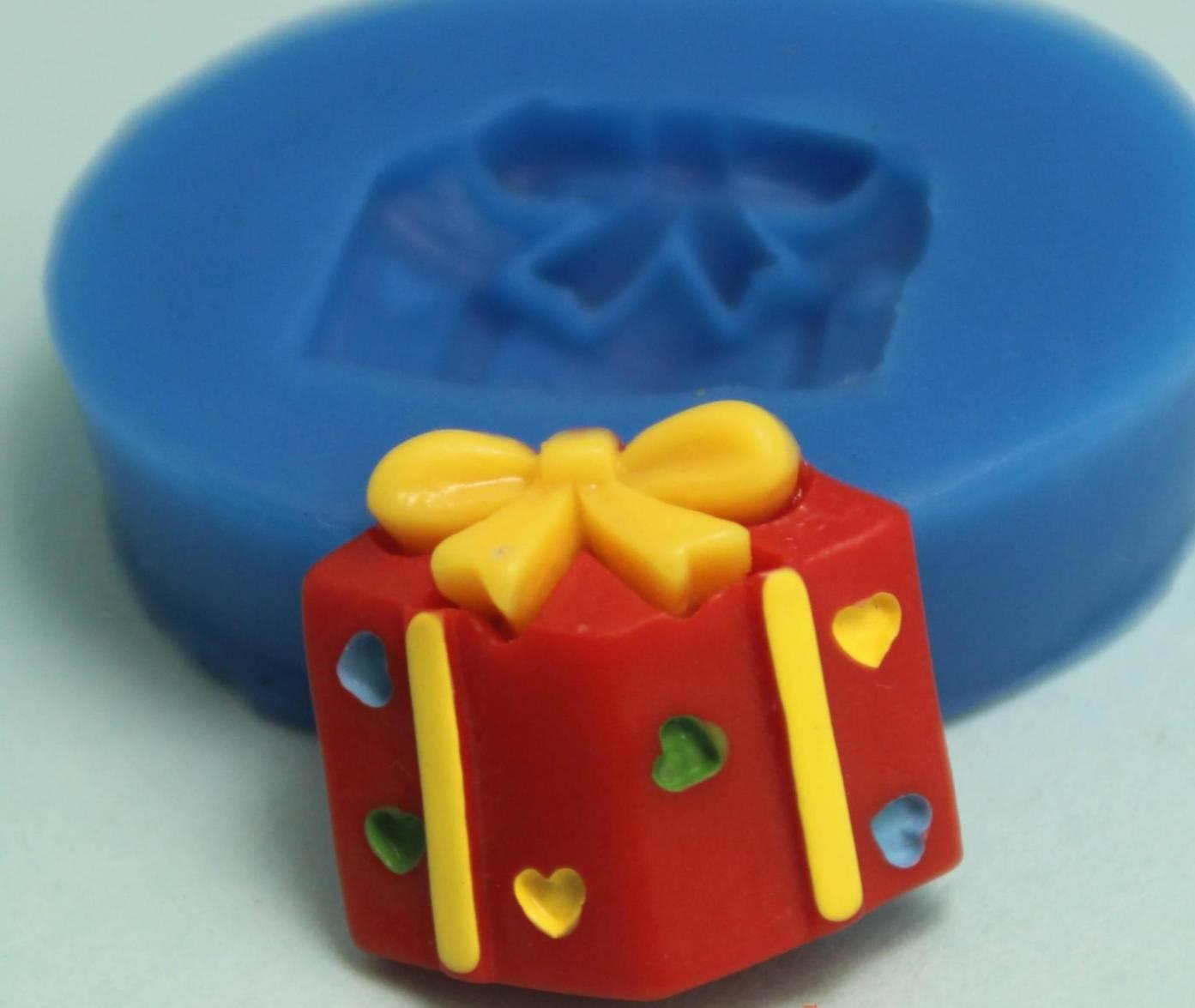 โมล พิมพ์ซิลิโคน รูปกล่องของขวัญ (พิมพ์ 2 มิติ)