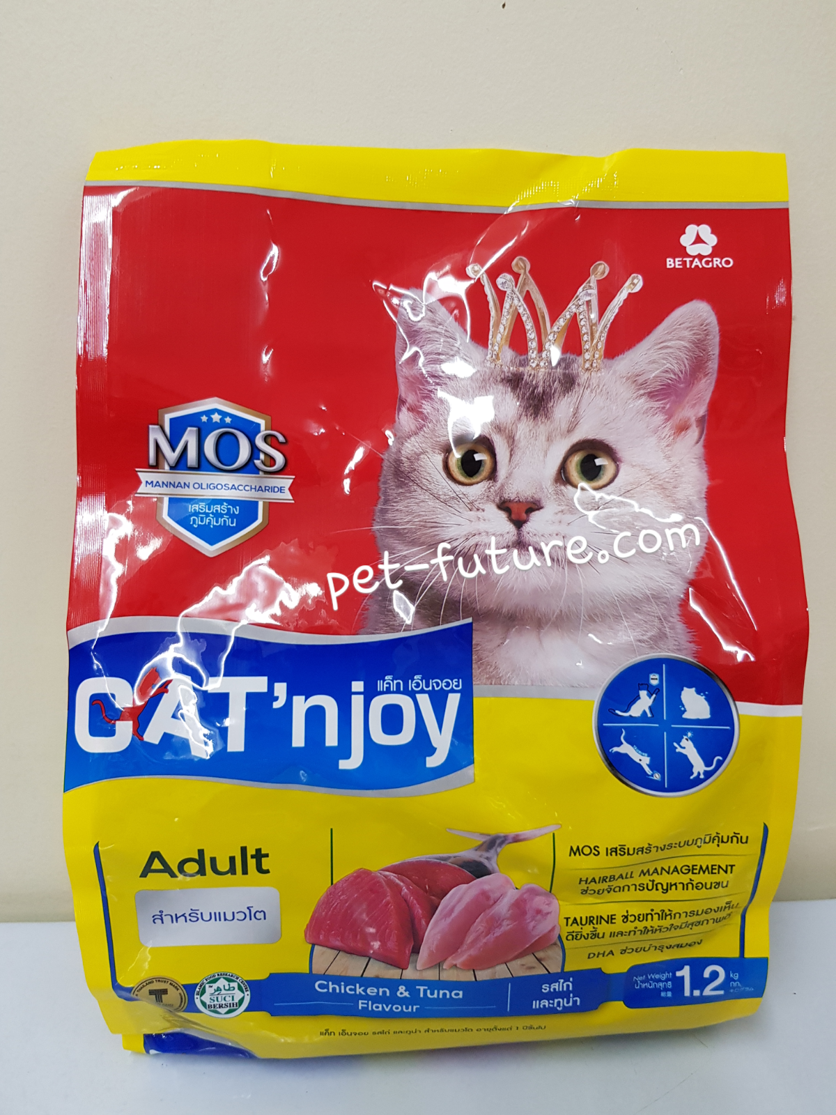 Cat'n Joy รสไก่และทูน่า Exp.03/19 สำหรับแมวโต 1.2 kg.