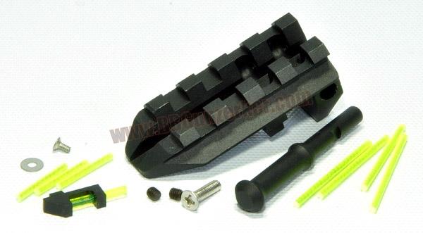 ศูนย์ Fiber optic+รางเสริม - Thunder Airsoft Aluminum CNC Sight Set For Marui Glock 17