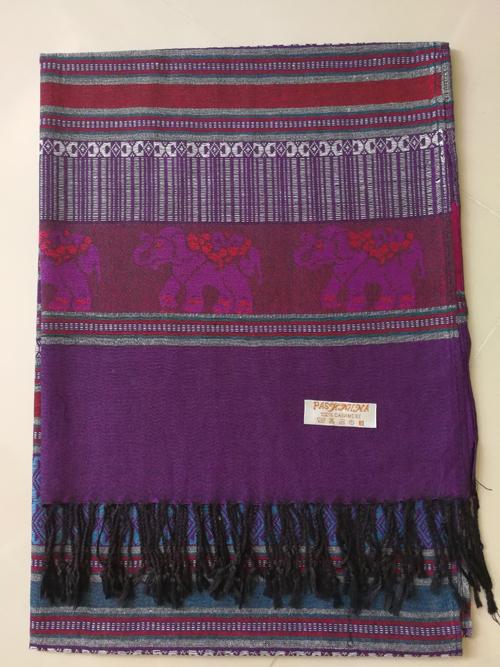 ผ้าพันคอ Pashmina พาสมีน่า ลาย ไทย PS02043T