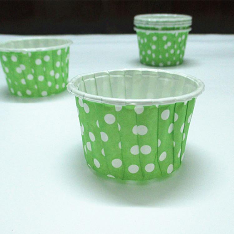 ถ้วยคัพเค้กเคลือบ ม้วนขอบ 4.4*3.5*5.6cm (4435)