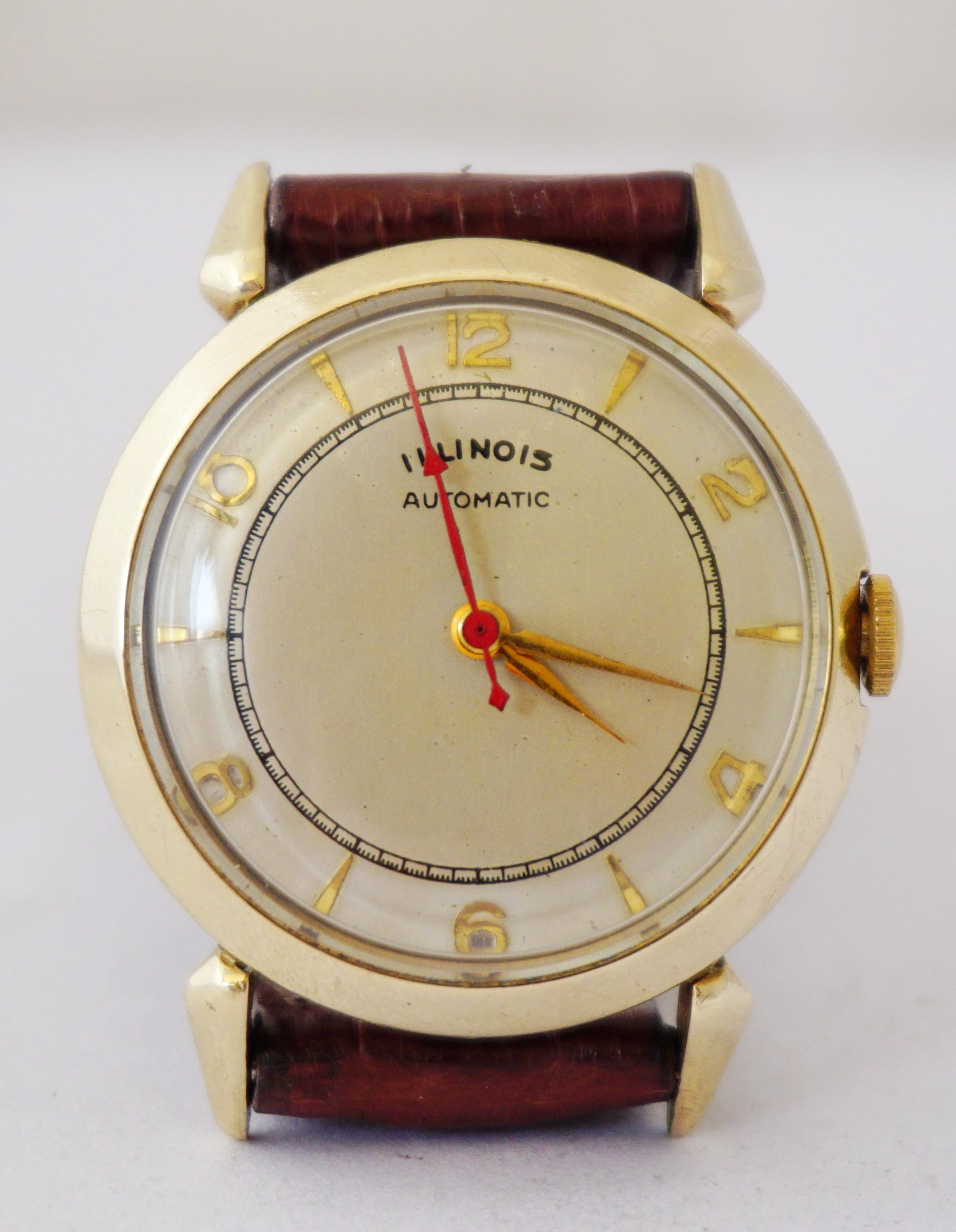 นาฬิกาเก่า ILLINOIS ออโตเมติก