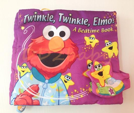 หนังสือผ้า Twinkle Twingkle ELMO a Bedtime book