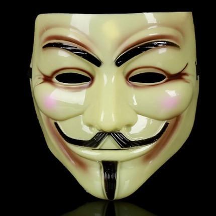 หน้ากาก V FOR Vendetta สีเขียวอ่อน
