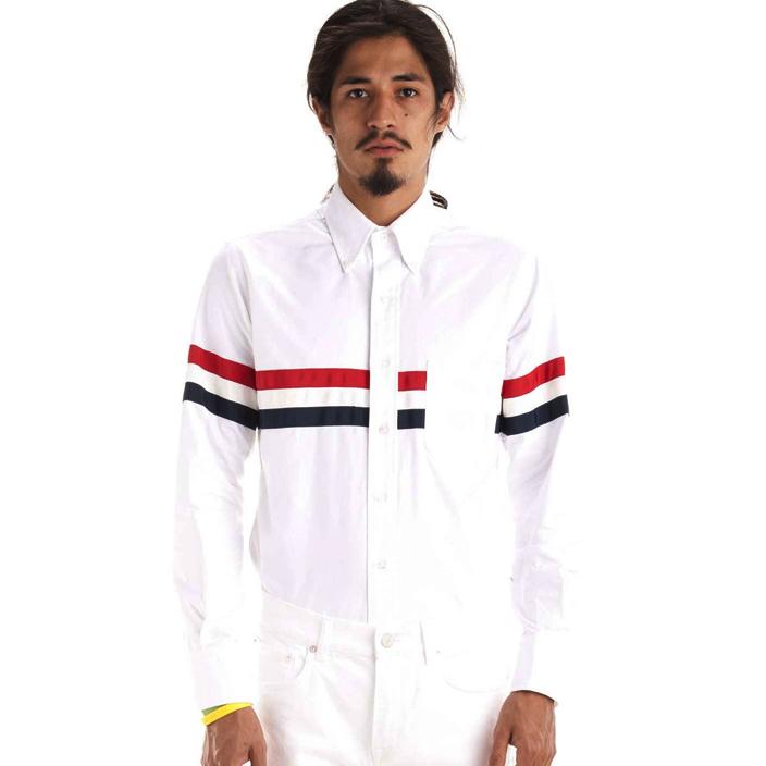 เสื้อเชิ้ตThom Browne Body Stripe Oxford Shirt
