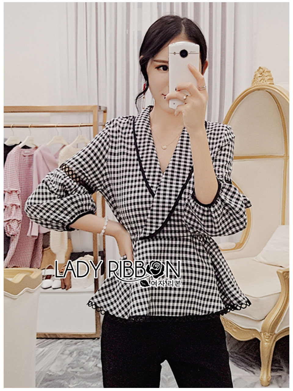 Tanya Smart Serene Checked Suit with Belt