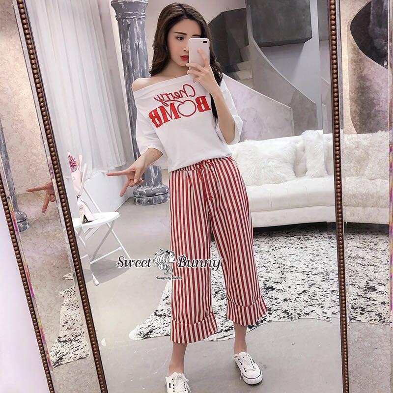 Merry Bomb Stripe Pants Set