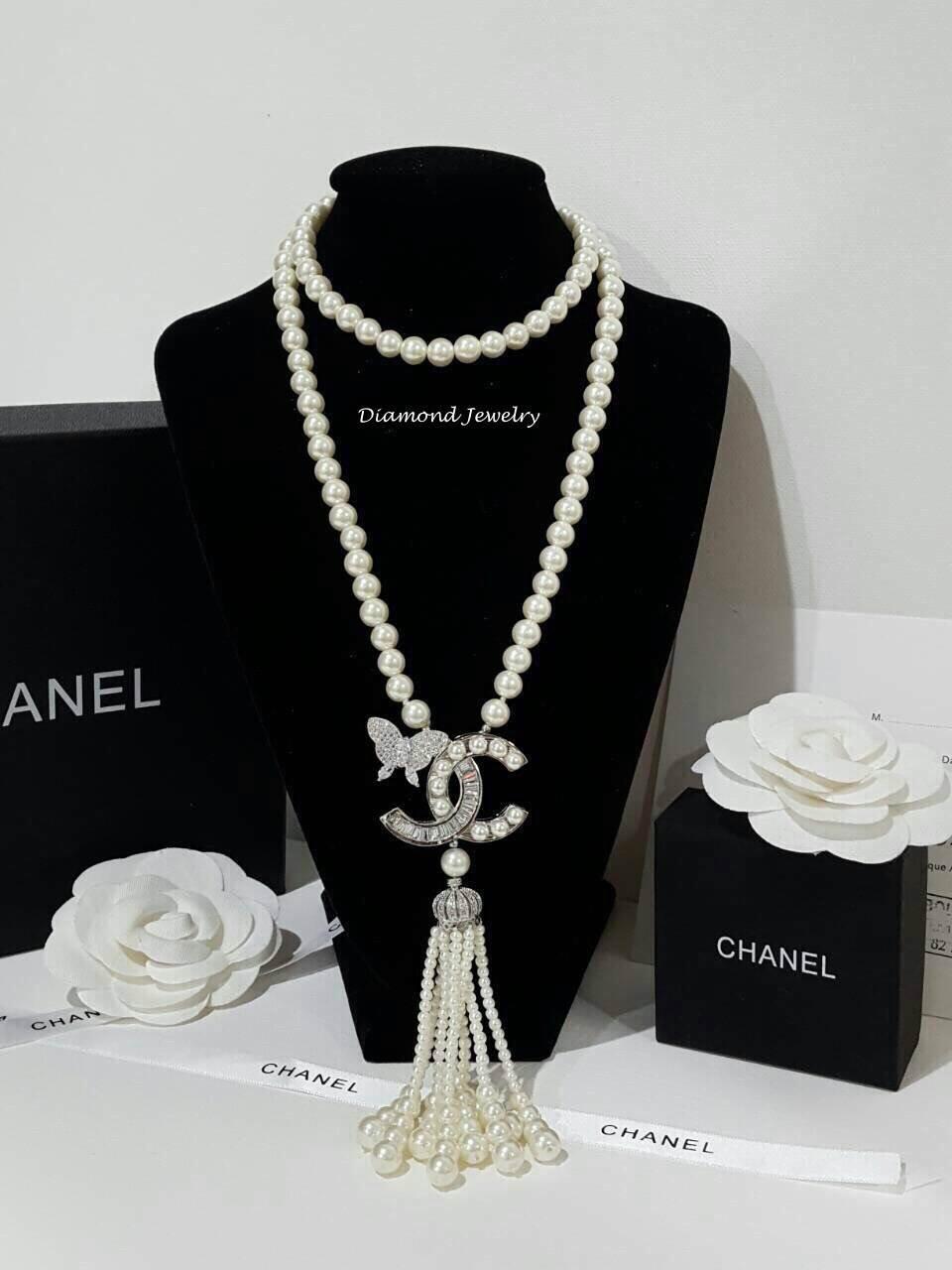 พร้อมส่ง Chanel Pearl Necklace รุ่นนี้เป็นงาน มุกญี่ปุ่นเกรดดีมาก