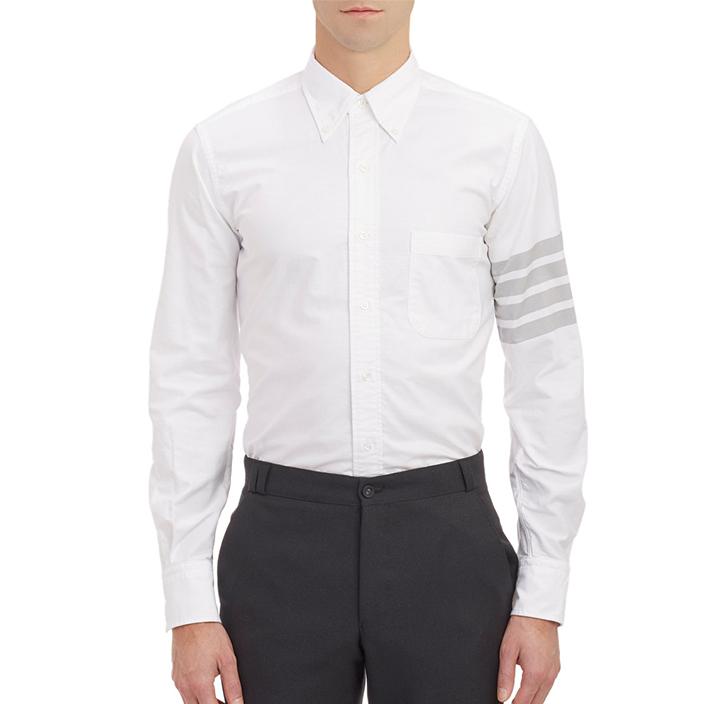 เสื้อเชิ้ตThom Browne Classic Grey Striped Shirt