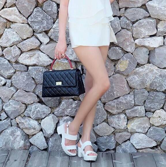 รองเท้าส้นเกาหลี งานสีขาว แบบขายดี พื้นนิ่มใส่สบาย