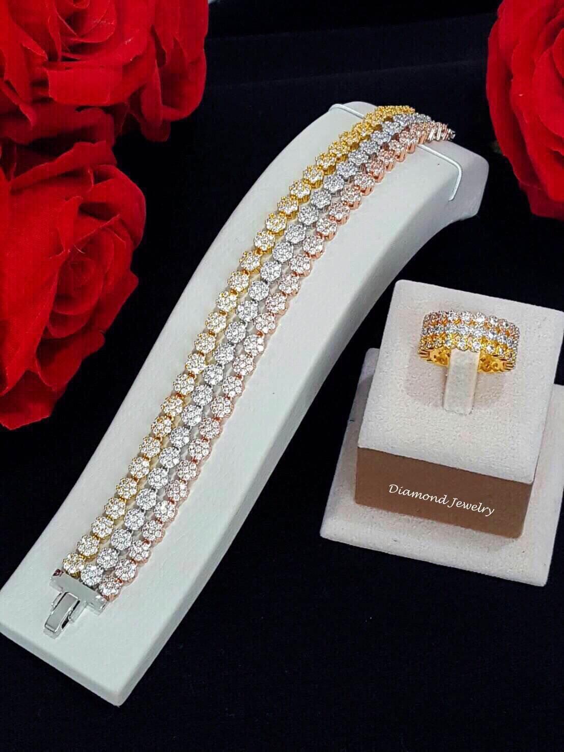 พร้อมส่ง Diamond Bracelet & Ring สร้อยข้อมือและแหวนเพชรงาน 3 กษัตริย์เ