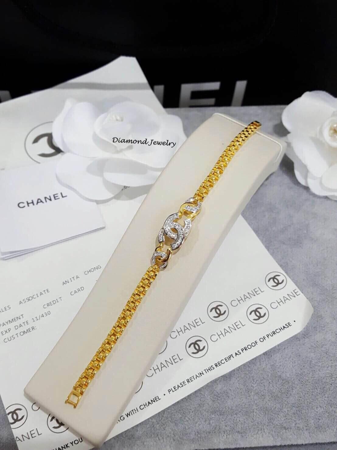 พร้อมส่งสร้อยข้อมือ Chanel งานทอง 5 ไมครอน