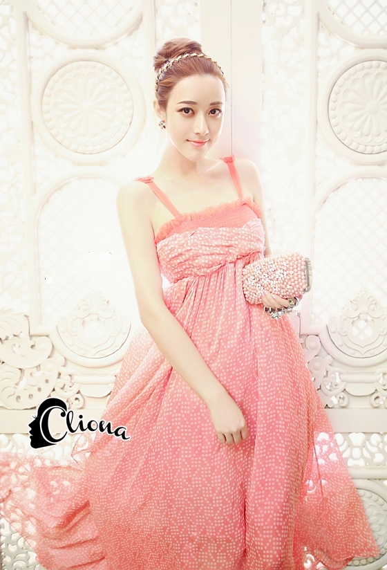 ชุดเดรสเกาหล ีพร้อมส่งPinky Garden Dress