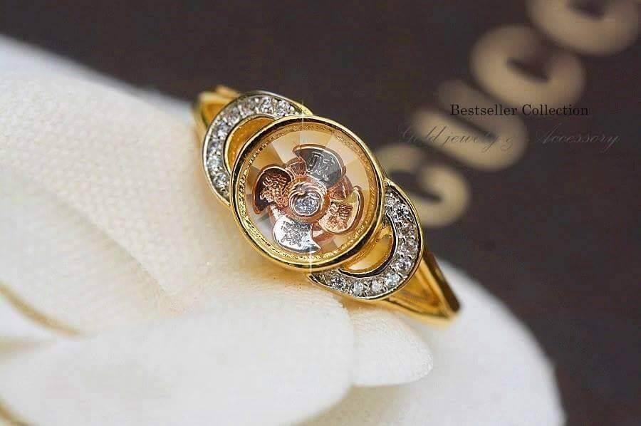 พร้อมส่ง แหวนกังหัน งานนำเข้าจากฮ่องกงกังหันหมุนได้100%