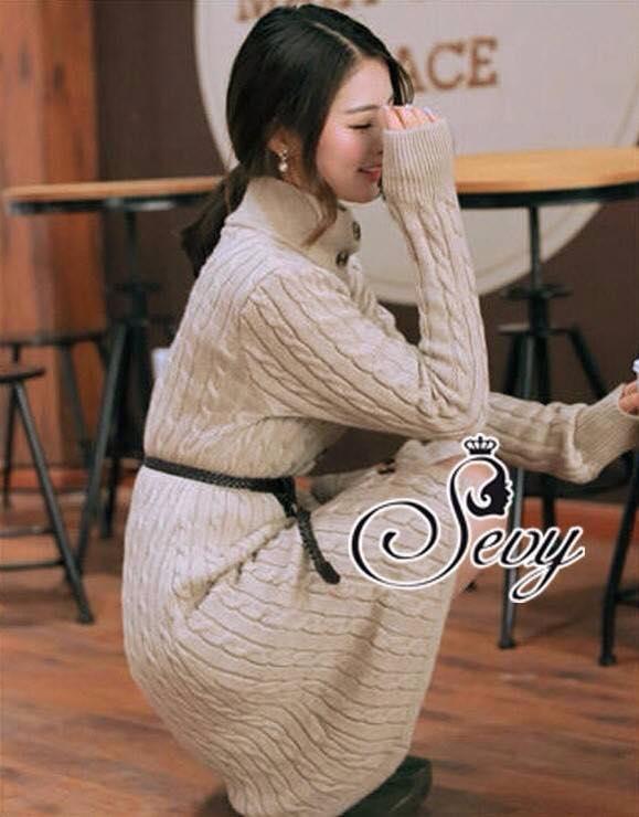 เสื้อผ้าเกาหลี พร้อมส่ง เสื้อคลุมโทนน้ำตาลอุ่นสไตล์โค้ชตัวยาวผ้าไหมพรมถักทอเนื้อสวย