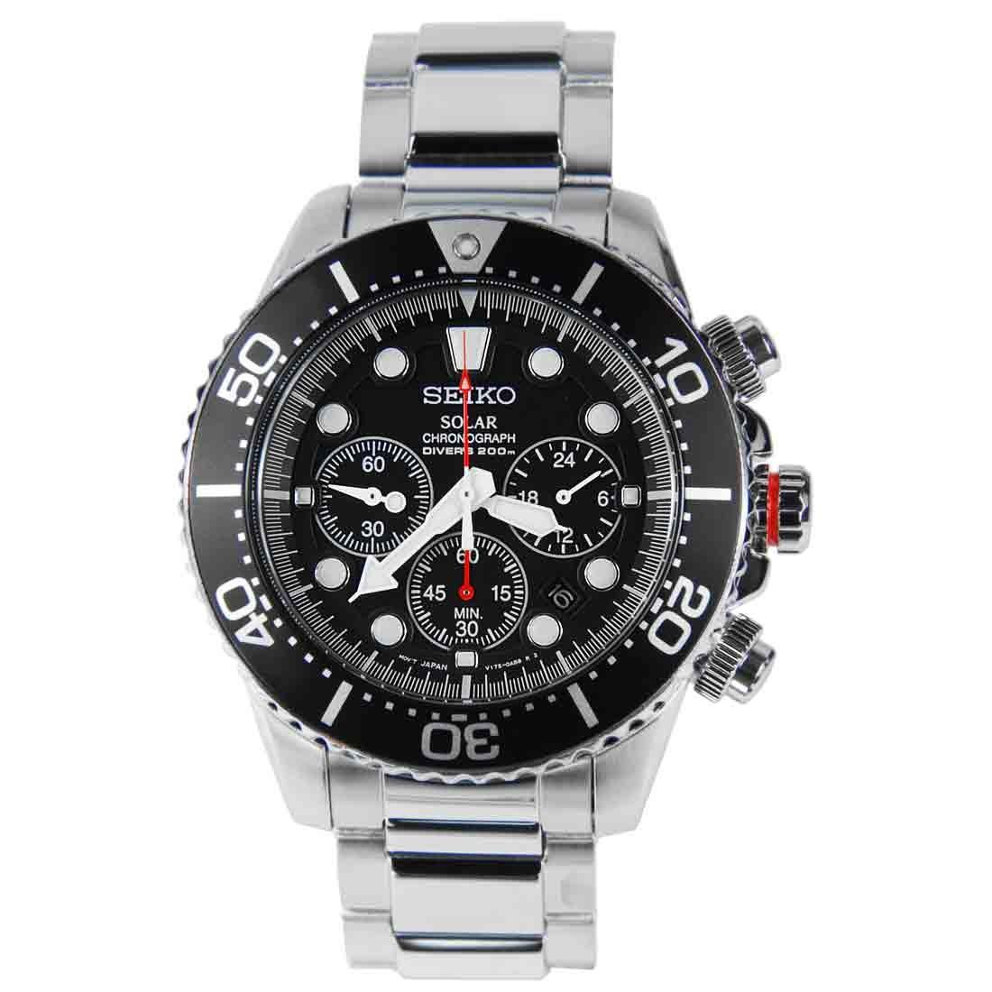 นาฬิกา Seiko Solar Chronograph Diver Watch SSC015P1 SSC015