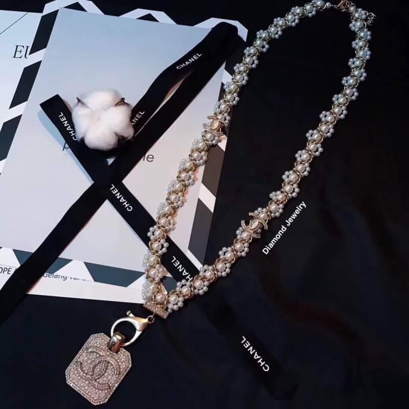 พร้อมส่ง Chanel Necklace สร้อยคอมุกชาแนล