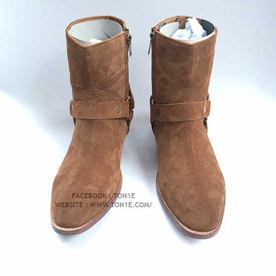 รองเท้าSaint Laurent Suede Boots In Browne (1:1)