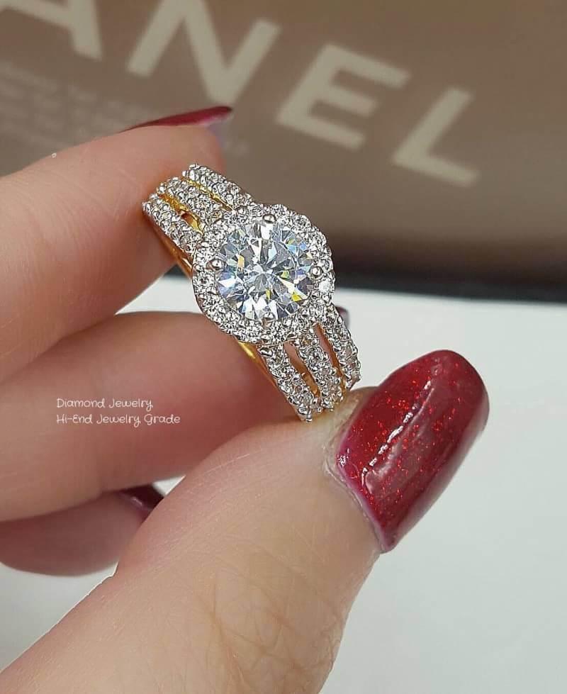 แหวนเพชรสวิสคัดเกรดอย่างดีค่ะ งานสวยเลอค่ามากๆ