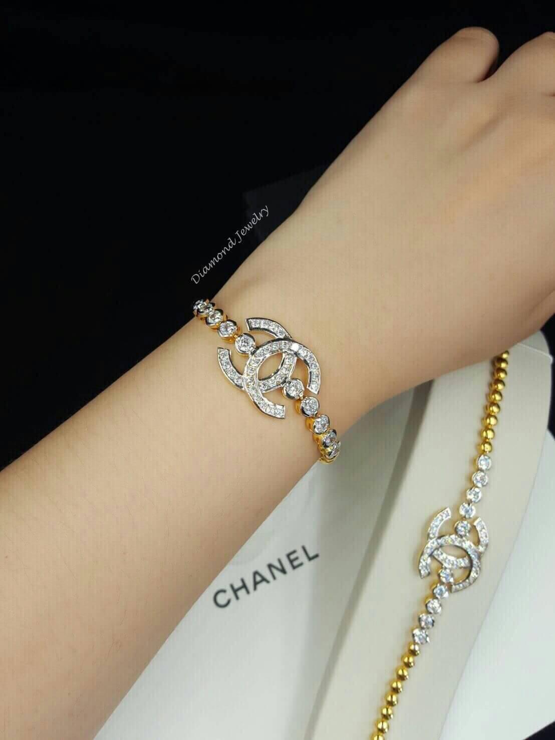 พร้อมส่ง Chanel Bracelet สร้อยข้อมือชาแนลงานเพชรสวิส