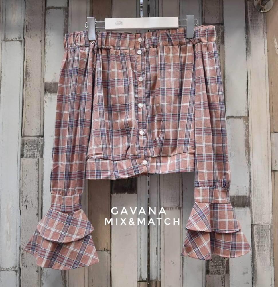 เสื้อผ้าเกาหลีพร้อมส่ง เสื้อลายสก๊อตหวานๆน่ารักๆมาแล้ว