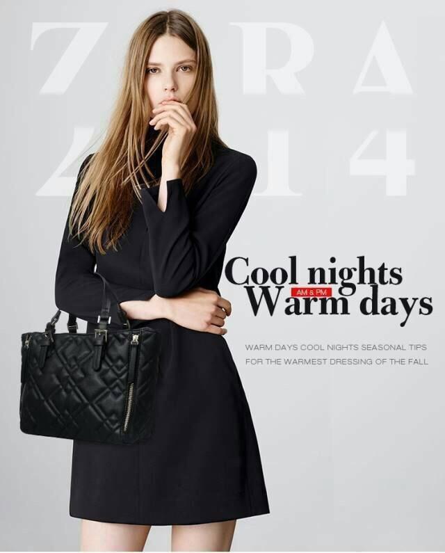 ZARA Quilted mini bag สวยหรูเล่นลวดลายรอบกระเป๋า มีสายสะพายยาว รุ่นใหม่ชนช็อป แนะนำเลยค่ะ Size : 22 x 24 x 10 cm. ราคา 1490 บาท