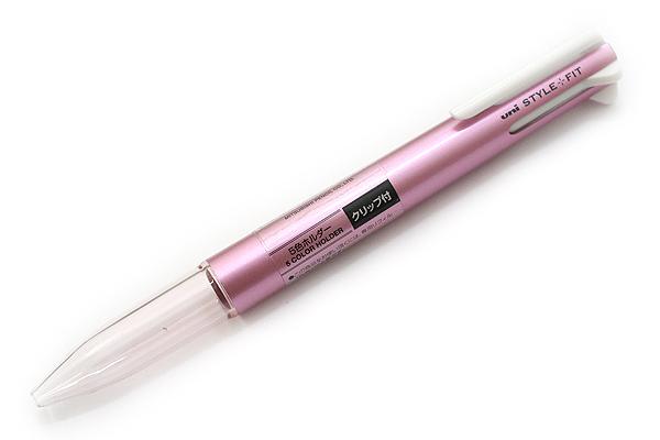 ด้ามเปล่าใส่ไส้ปากกา Uni Style Fit - 5 ไส้ มีคลิป Metallic Pink