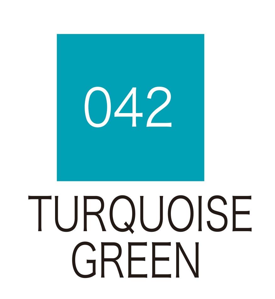 ปากกาสี 2 หัว ZIG CLEAN COLOR No.042 - Turquoise