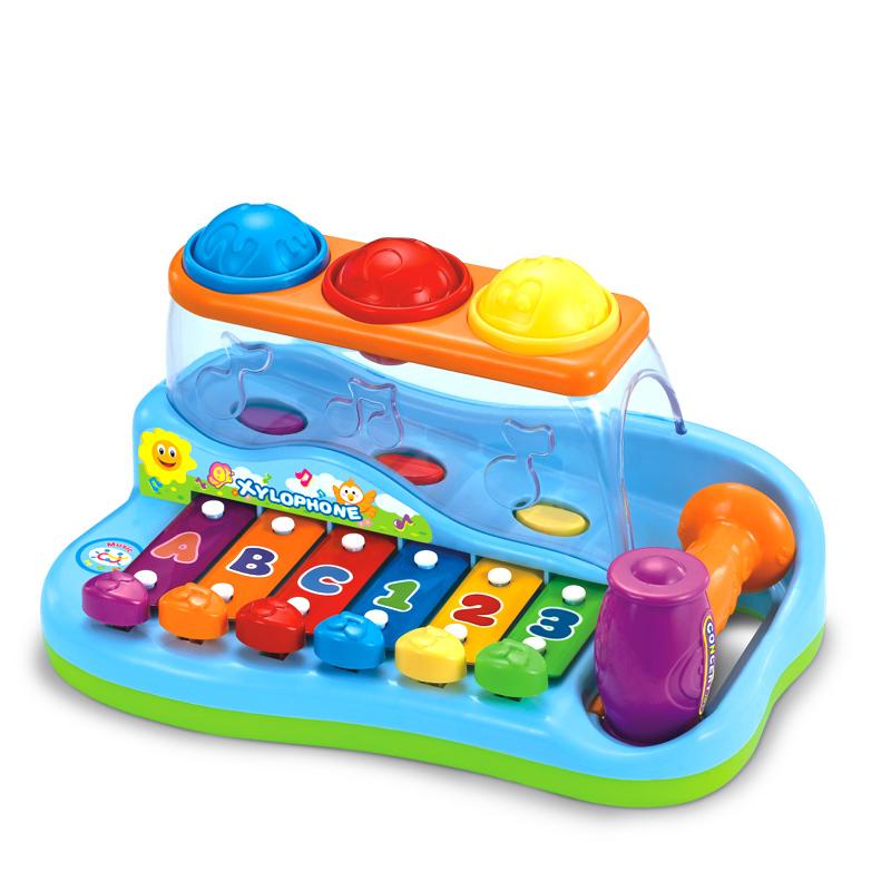 Huile Toys ของเล่นค้อนทุบ พร้อมออแกน มีเสียงเพลง