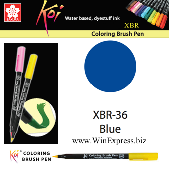 XBR-36 Blue - SAKURA Koi Brush Pen