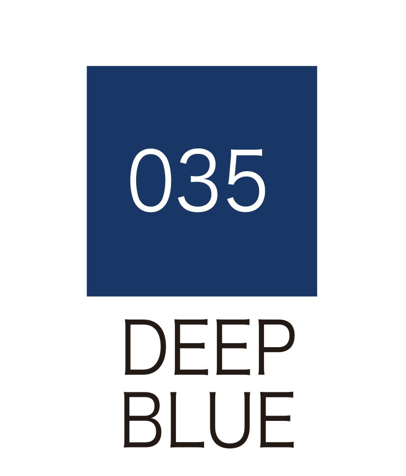 ปากกาสี 2 หัว ZIG CLEAN COLOR No.035 - Deep Blue