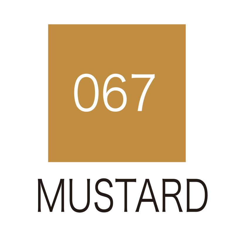 ปากกาสี 2 หัว ZIG CLEAN COLOR No.067 - Mustard