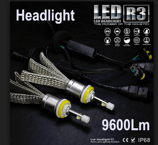 ไฟหน้า LED ขั้ว HB4(9006) Cree 2 ดวง 40W R3 No Fan