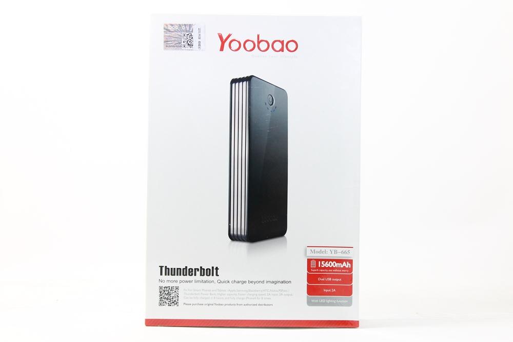 แบตสำรอง Yoobao 15600 mAh แท้ สีดำ รุ่นThunderbold YB665