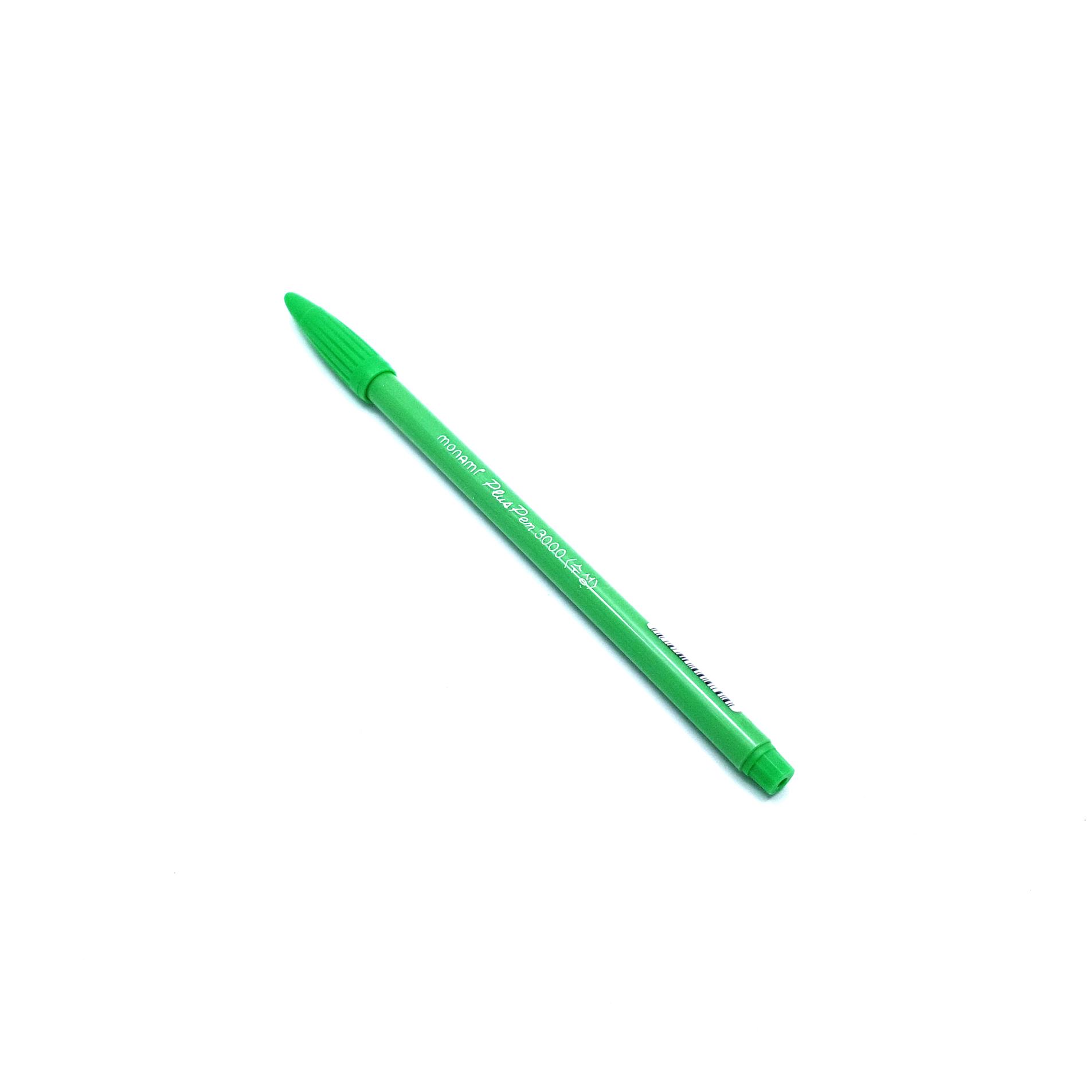 ปากกาสี Monami PlusPen 3000 - No.12 Light Green