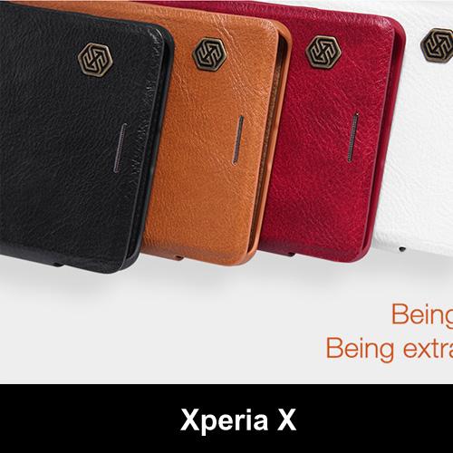 เคสฝาพับ Xperia X ของ Nillkin Qin Leather Case