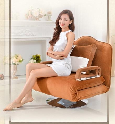 เก้าอี้โซฟาปรับนอน รุ่น FOLD-UP สีน้ำตาล