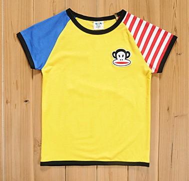 เสื้อยืดแขนสั้น สีเหลือง ลาย paul frank