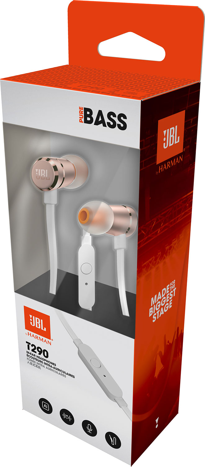 JBL T290 In-Ear Headphone - Rose God 1,490 บาท