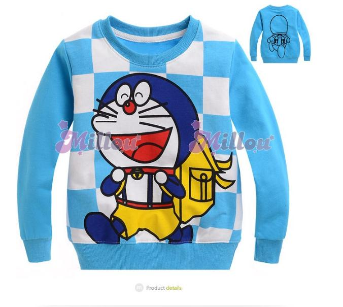เสื้อกันหนาว Doraemon สีฟ้า