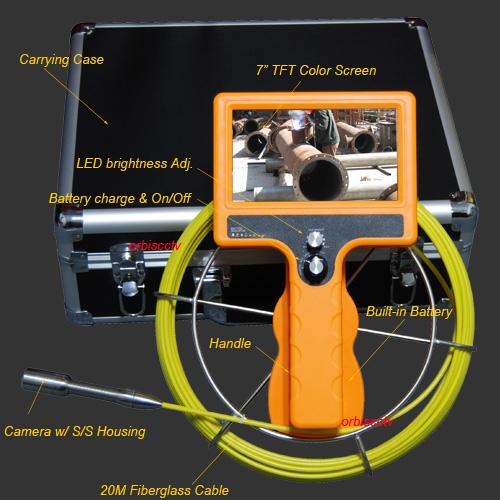 Drain Pipe inspection (กล้องตรวจสอบในท่อ) จอแสดงผล 7 นิ้ว สายยาว 50 เมตร