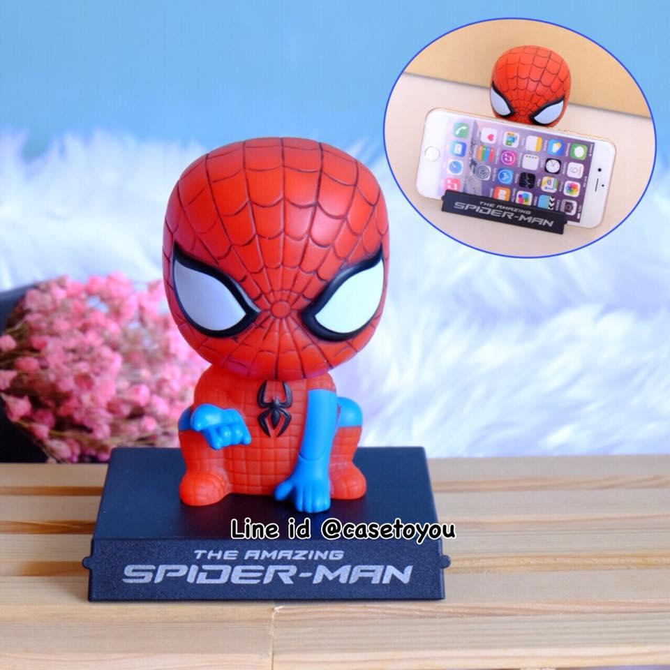 โมเดลหัวโยกสำหรับวางมือถือ ลาย Spiderman