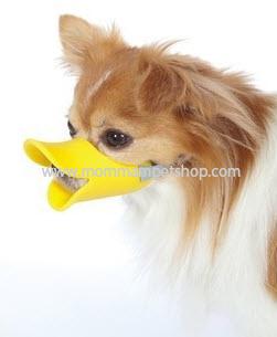 ที่ครอบปากสุนัข ป้องกันกัด รูปปากเป็ด ที่ครอบปากเป็ด Duckbill