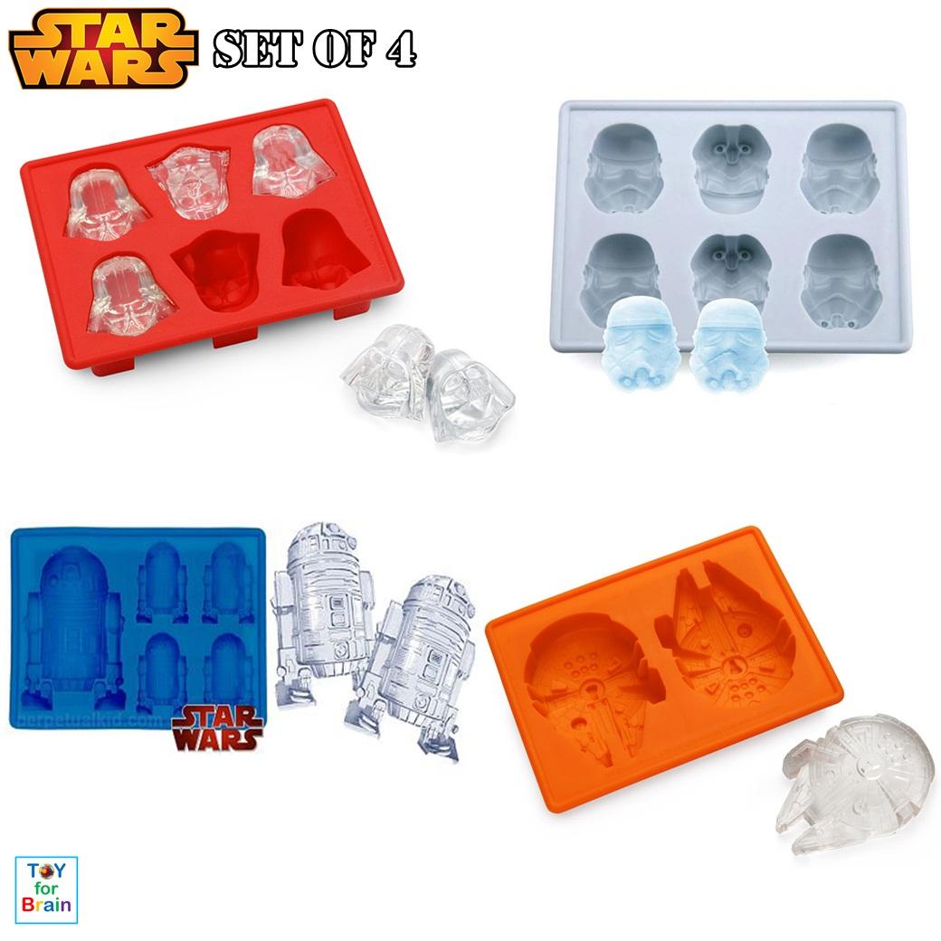 Star Wars Ice Cube mold ชุดแม่พิมพ์ Star Wars 4 ชิ้น