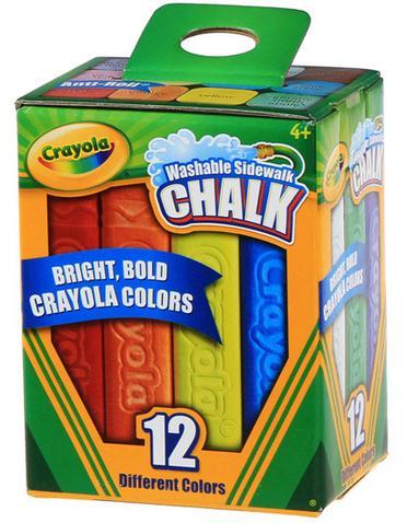 Crayola Washable Sidewalk Chalk Stick 12 colors