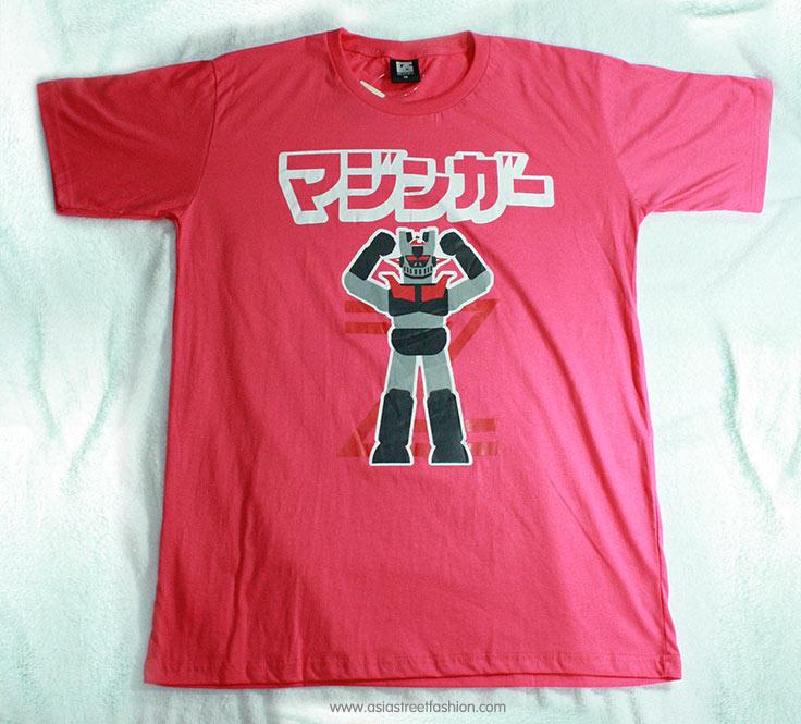 T-Shirt เสื้อยืดกันดั้ม Mazinger Z มาซินเกอร์ Z หุ่นกายสิทธิ์ (Zaku II) สุดเท่ห์ สีชมพู จากร้าน GUNZU !!โปรโมชั่น