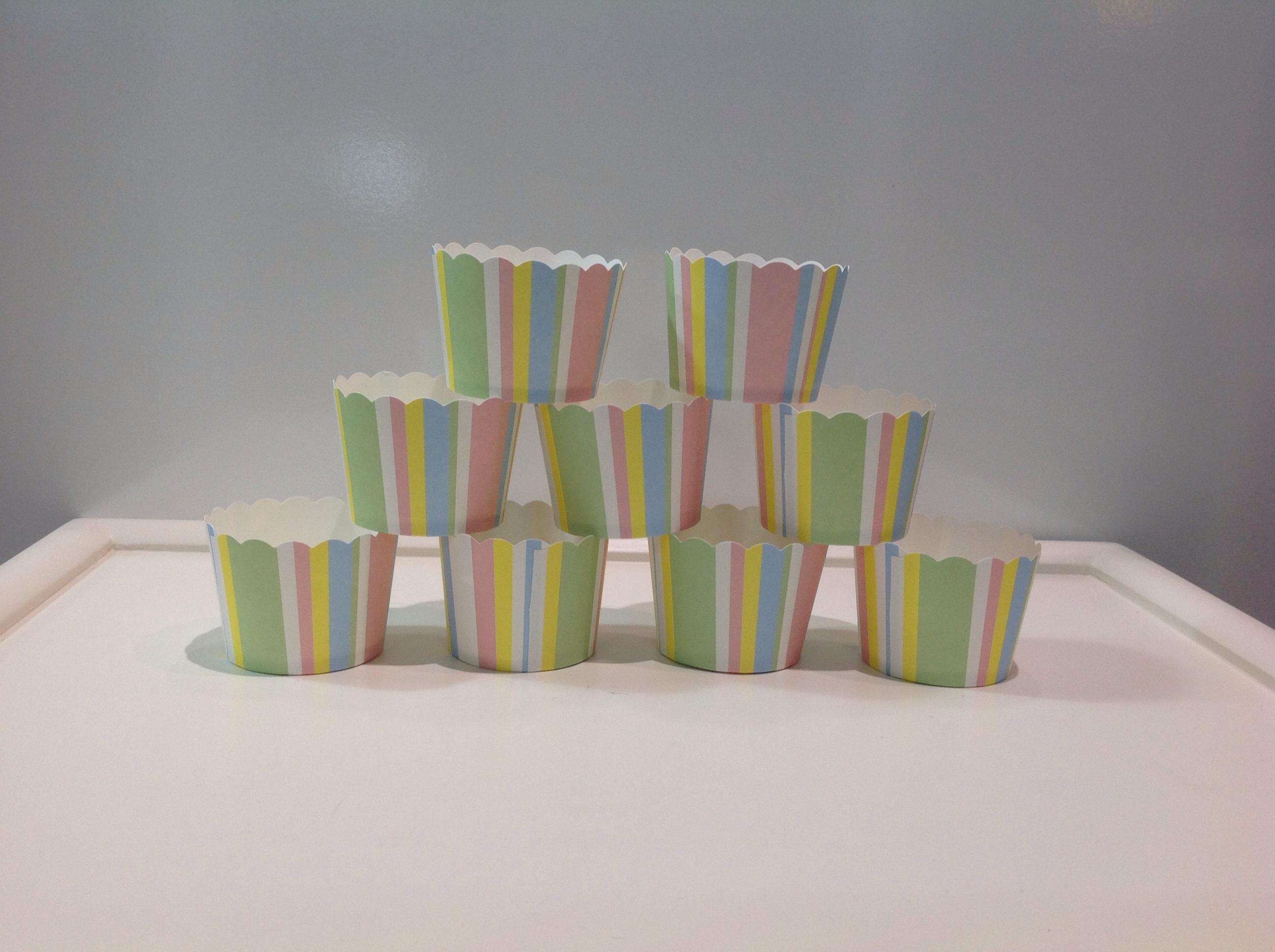 PC-EI-M50/45 STRIPE/B Muffin cup Stripe/Mix ลายทาง