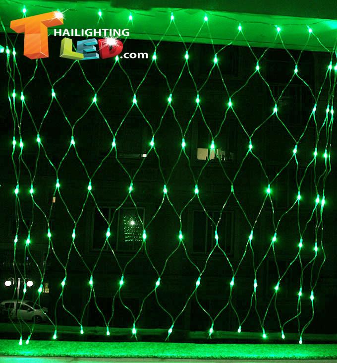 ไฟตาข่าย LED สีเขียว ขนาดใหญ่
